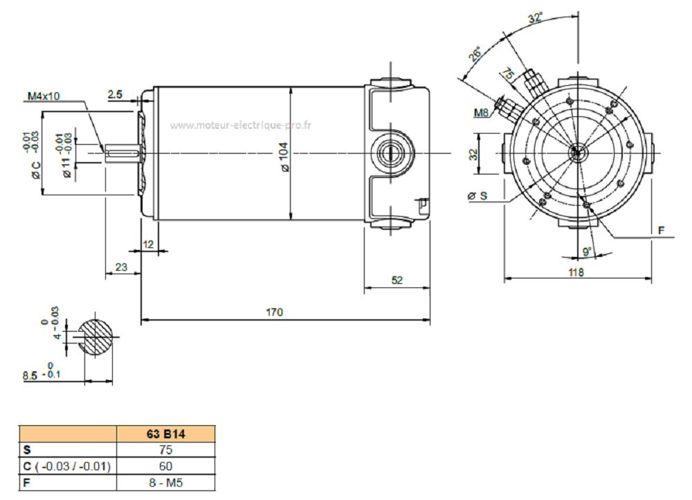 moteur transtecno EC250.240 63B14