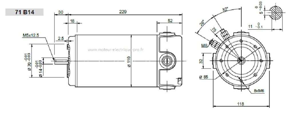 Moteur électrique Transtecno EC600-120 71B14