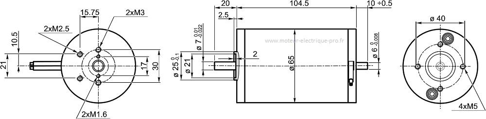 moteur aimant permanent Transtecno EC050.24E