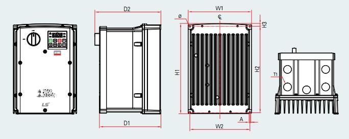 BSM S100 PLAN VARIATEUR DE FREQUENCE 0.4KW TYPE LSLV0004S100-4 EXFNS 0.75KW TYPE LSLV0008S100-4 EXFNS LSIS