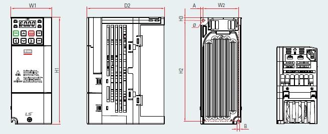 BSM S100 PLAN VARIATEUR DE FREQUENCE BSM 0.4KW TYPE LSLV0004S100-4 EOFNS 0.75KW TYPE LSLV0008S100-4 EOFNS LSIS