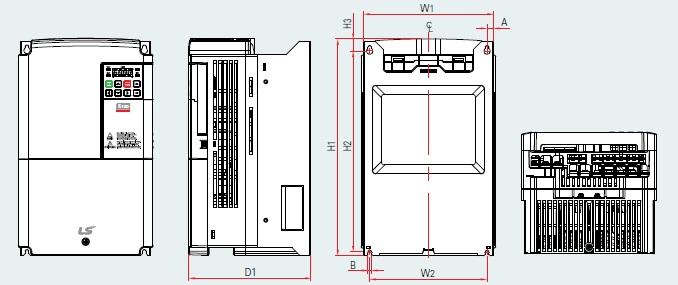 BSM S100 PLAN VARIATEUR DE FREQUENCE BSM 11.0KW TYPE LSLV0110S100-4 EOFNS 15.0KW TYPE LSLV0150S100-4 EOFNS LSIS