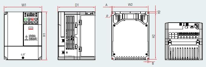 BSM S100 PLAN VARIATEUR DE FREQUENCE BSM 3.7KW TYPE LSLV0037S100-4 EOFNS 4.0KW TYPE LSLV0040S100-4 EOFNS LSIS