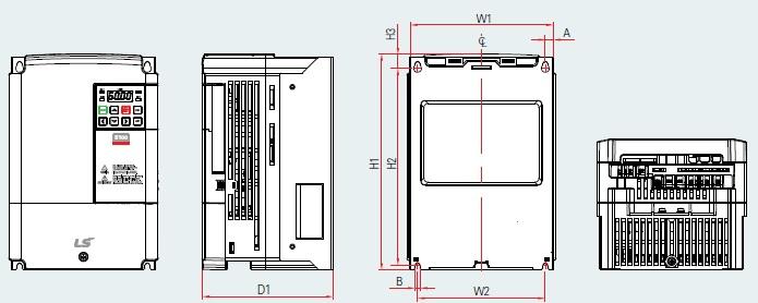 BSM S100 PLAN VARIATEUR DE FREQUENCE BSM 5.5KW TYPE LSLV0055S100-4 EOFNS 7.5KW TYPE LSLV0075S100-4 EOFNS LSIS