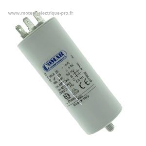 condensateur 25 microfarad 450v pour moteur électrique