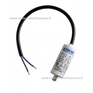 Condensateur moteur câble 3.15 µf 450V sur www.moteur-electrique-pro.fr