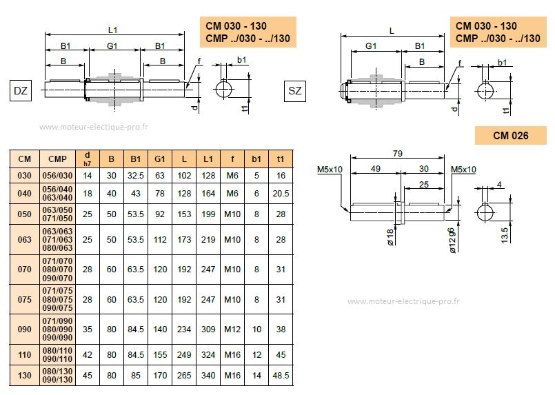 ARBRES-DE-SORTIE-SIMPLE-TRANSTECNO-DIMENSIONS CM050