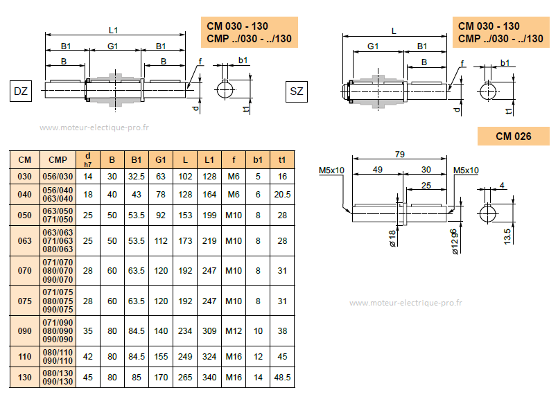 ARBRES-DE-SORTIE-SIMPLE-TRANSTECNO-DIMENSIONS CM075