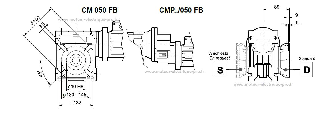 Plan des brides cm050 fb