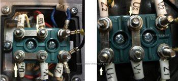 Branchement moteur monophasé - sens de rotation