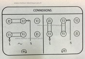 branchement moteur monophasé