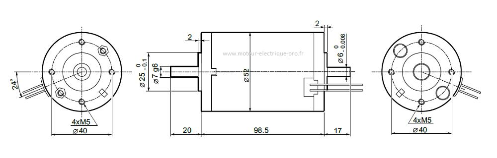 Moteur électrique Transtecno EC035.120
