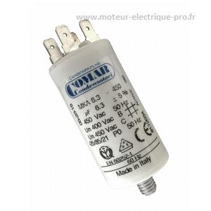Condensateur 6.3 µf 450V disponible sur www.moteur-electrique-pro.fr