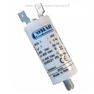 Condensateur 1uf 450 V disponible sur www.moteur-electrique-pro.fr.