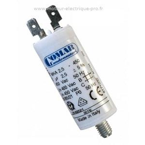 Condensateur 2.5uf 450 V disponible sur www.moteur-electrique-pro.fr