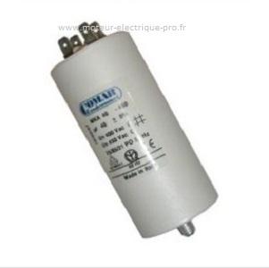Condensateur 35 uf 450 V cosses pour moteur électrique triphasé