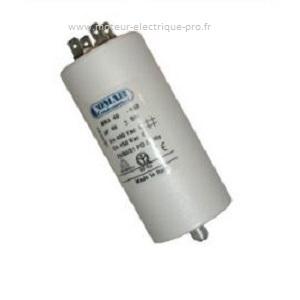 Condensateur 4.5uF//450V+GRD