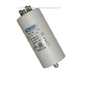 Condensateur 60 uf à cosses permanent sur www.moteur-electrique-pro.fr