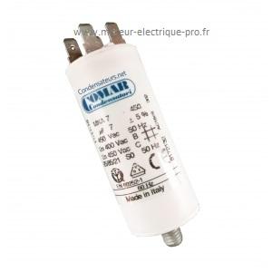 Condensateur 7 uf 450V disponible sur www.moteur-electrique-pro.fr