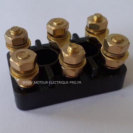 Bornier pour moteur - plaque à bornes 70x45 M6