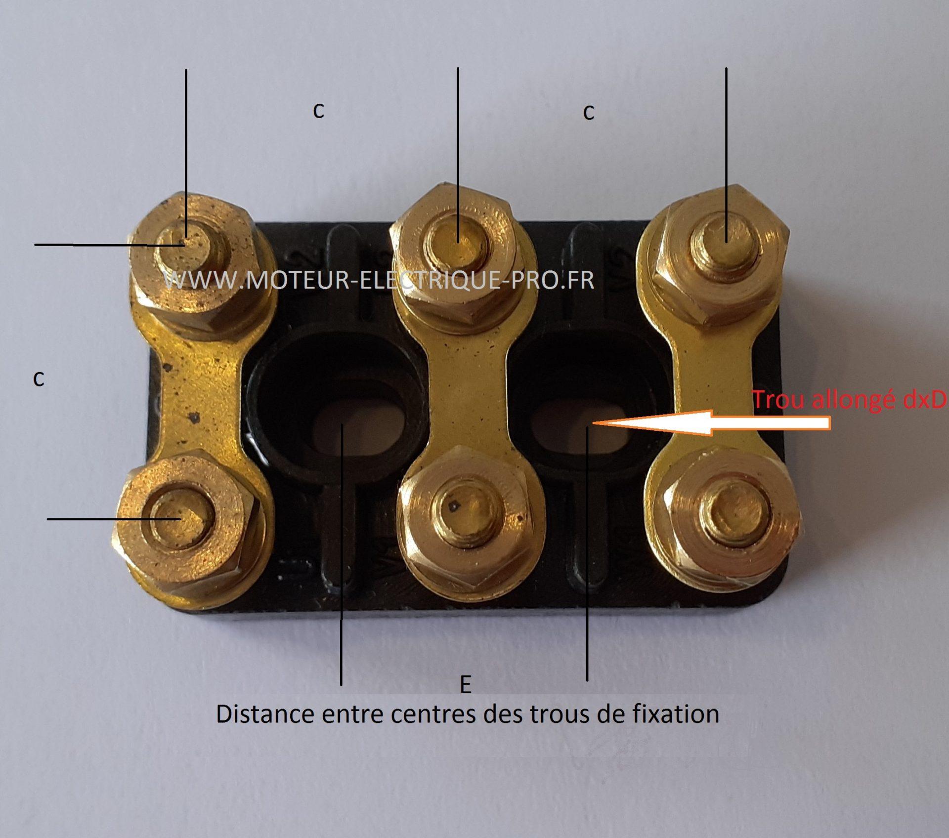 Plaque à bornes pour moteur électrique trous oblong