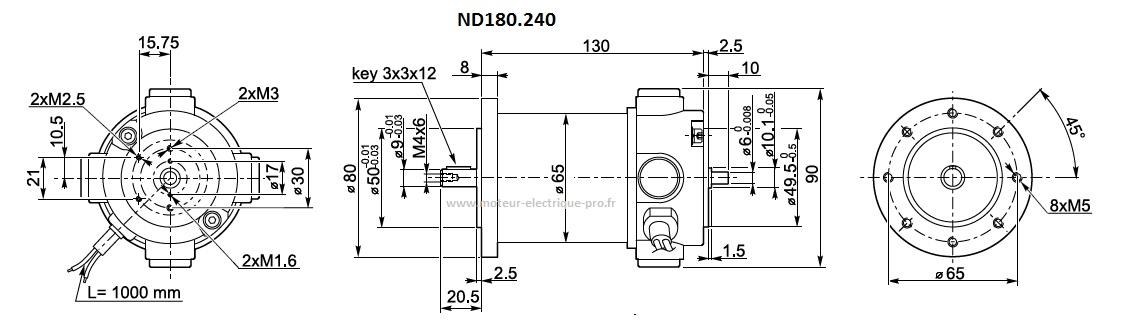 Moteur électrique Transtecno ND180.240