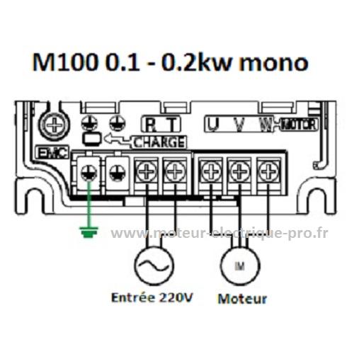 Variateur M100 LS Electrique 0.2kw branchement